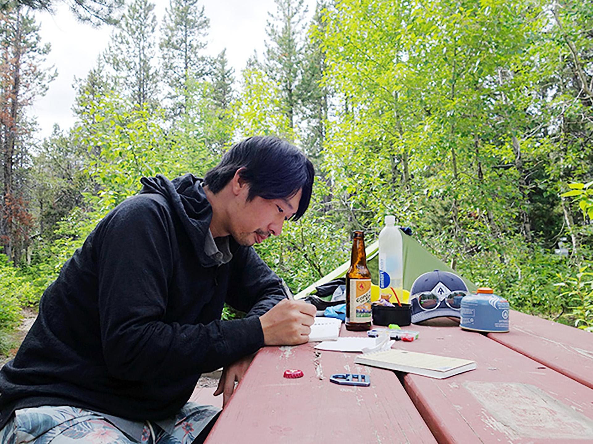 7-4 トリプルクラウナー/イラストレーター・河戸良佑氏インタビュー<br>〜ロングトレイルに必要な才能と、『アリガト山』への思い〜