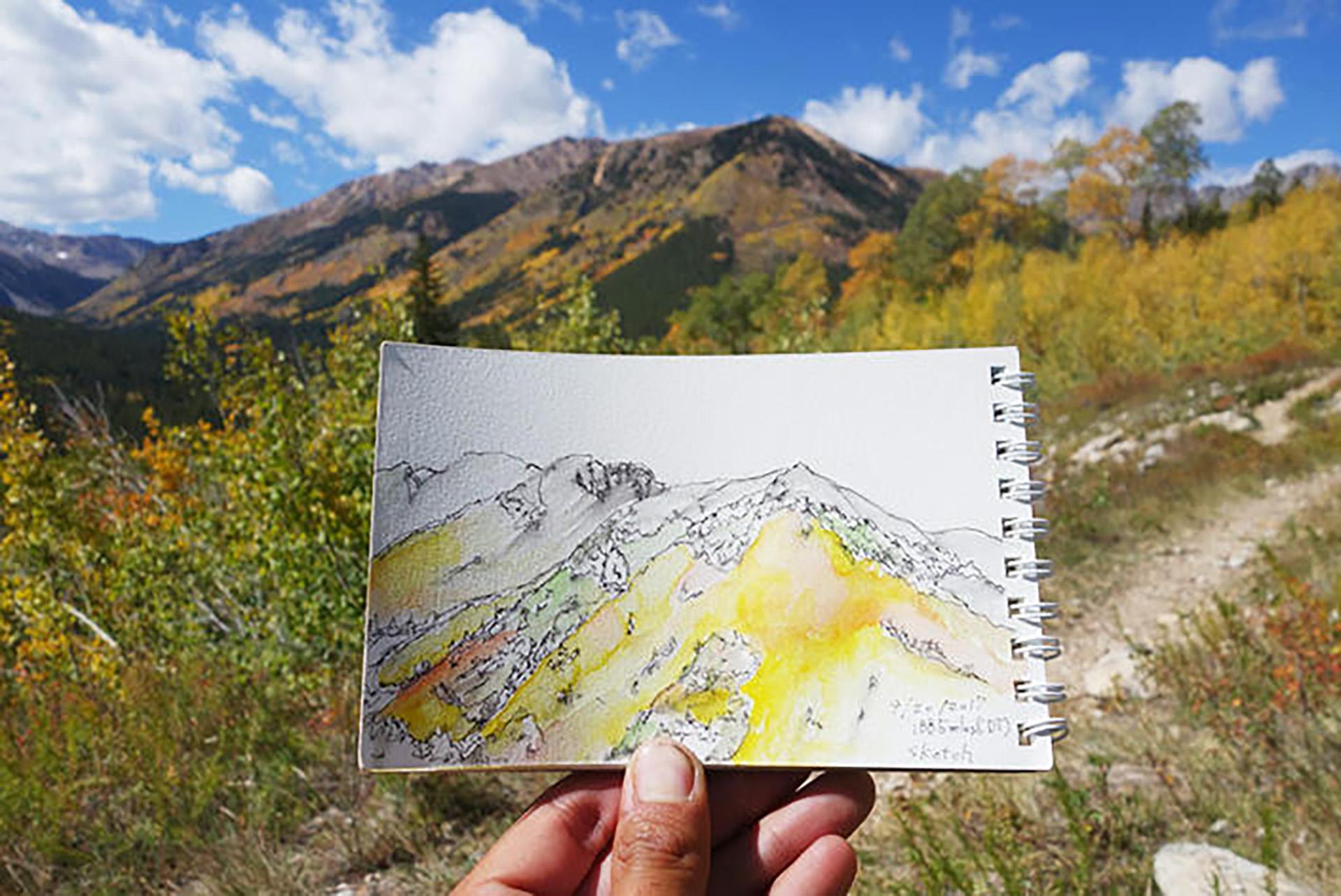 8-3 トリプルクラウナー/イラストレーター・河戸良佑氏インタビュー<br>〜ロングトレイルに必要な才能と、『アリガト山』への思い〜