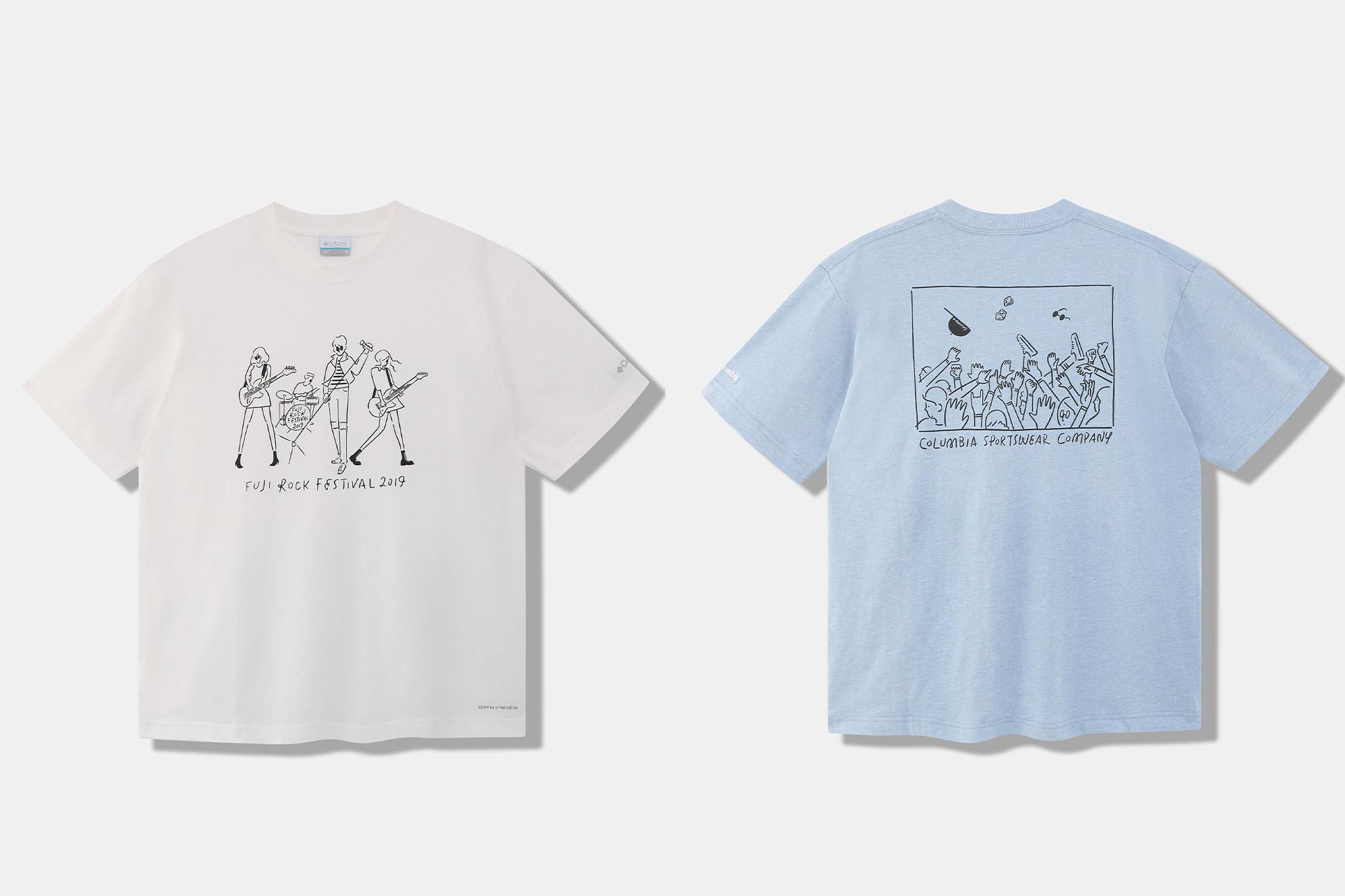 5 アーティスト・長場雄さんと歴代フジロック×コロンビアTシャツ