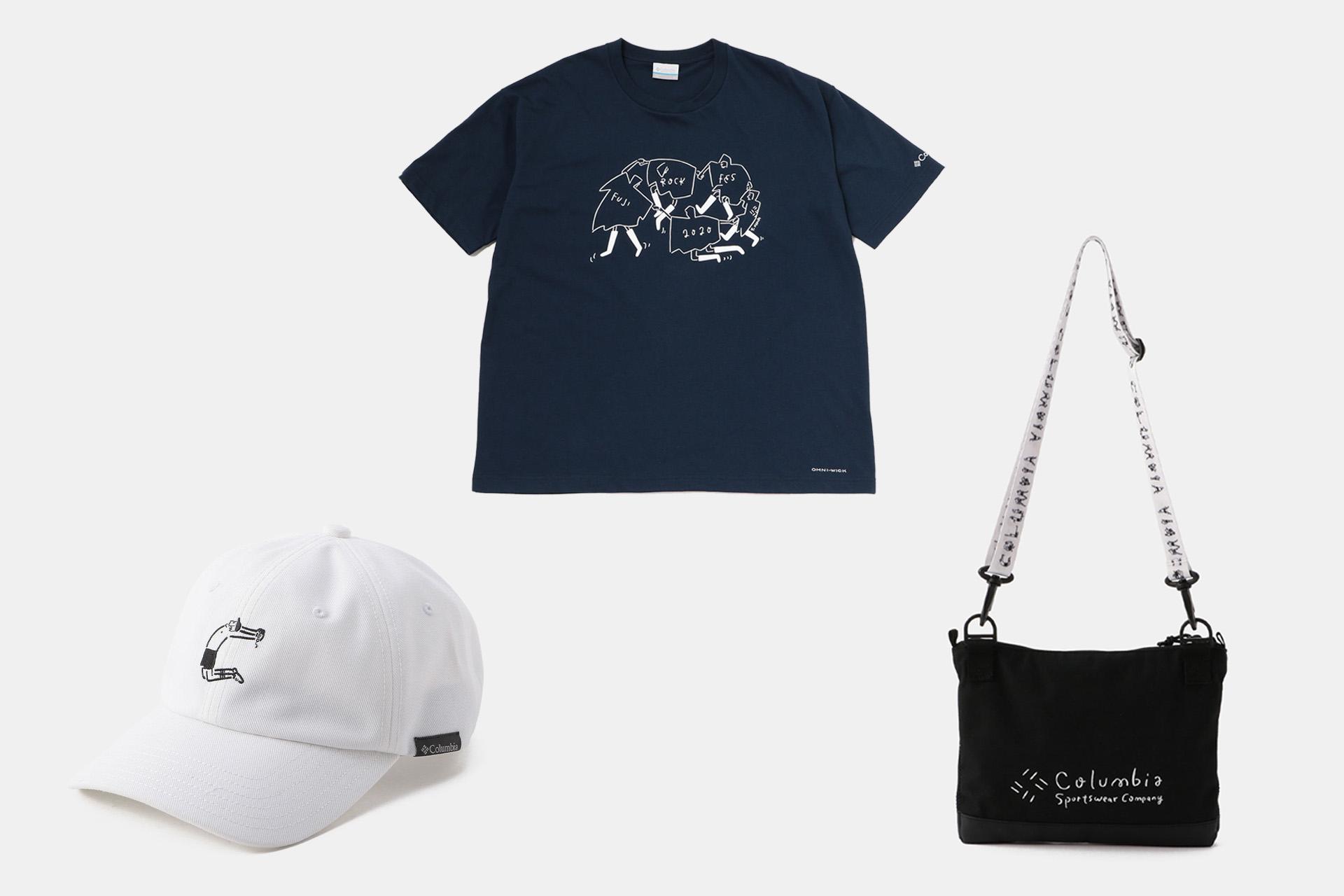 6 アーティスト・長場雄さんと歴代フジロック×コロンビアTシャツ