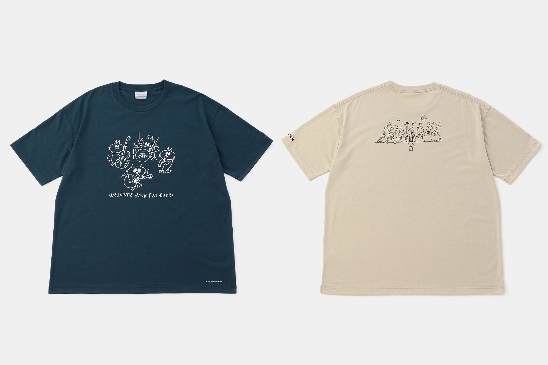 8 アーティスト・長場雄さんと歴代フジロック×コロンビアTシャツ